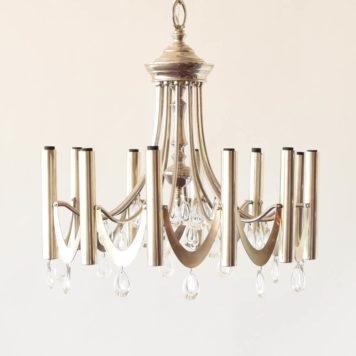 Silver Sciolari design mid century chandelier