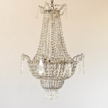 Italian crystal empire chandelier