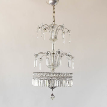Silver Italian chandelier lights