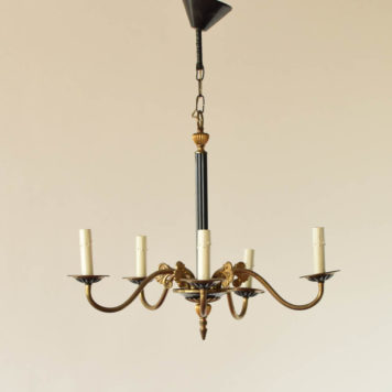 5 light bronze empire chandelier