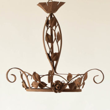 Art deco French chandelier with floral design