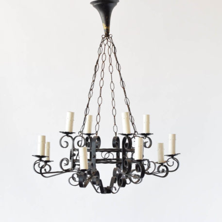 12 light country French chandelier