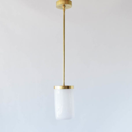 Modern white cased glass pendant