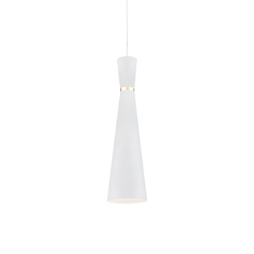 Tall white conical pendant