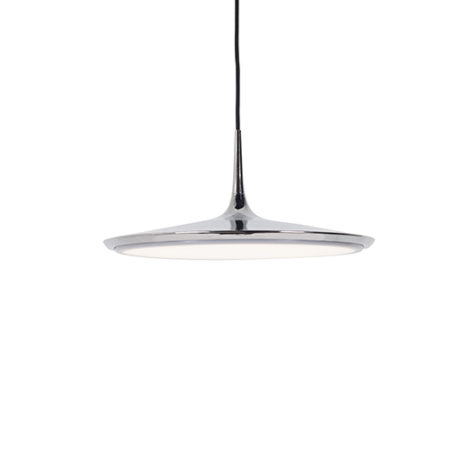 Shallow chrome LED pendant