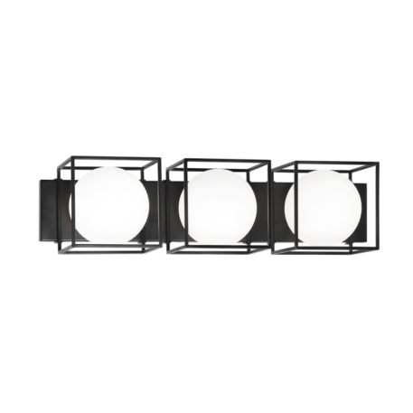 Black wall/ceiling mount with 3 lights
