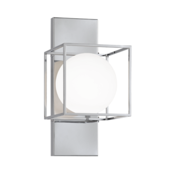 Chrome 1 light wall-ceiling-mount