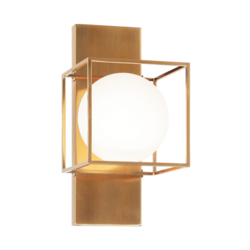 Aged gold 1 light wall/ceiling mount