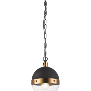 Small black and gold ball shaped pendant