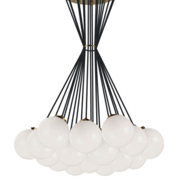 Large Fixture with 19 opal glass balls