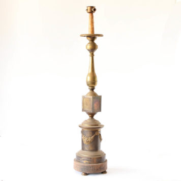 Bronze floor lamp with XXL candle holder