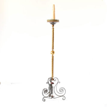 Bronze and iron floor lamp