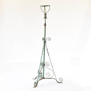 French church iron floor lamp