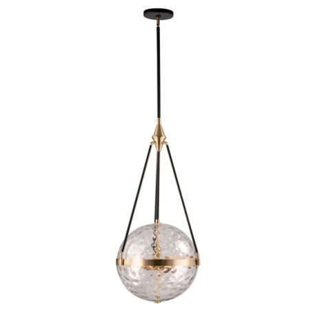 clear glass globe pendant black rods and natural brass hardware