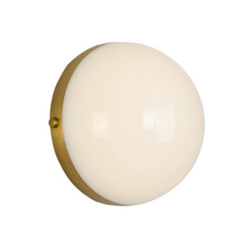 wall sconce with sphere solid glass