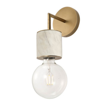 white marble one light sconce