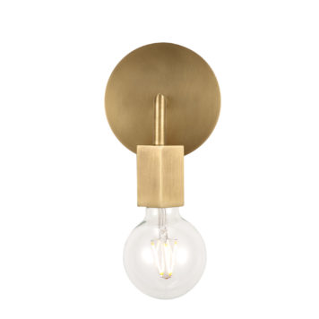 hexagon design natural brass finish one light vanity