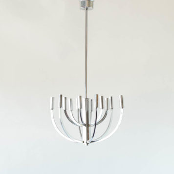 Candelabra inspired mid century light fixture