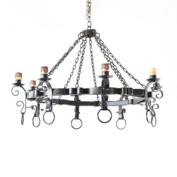 Large vintage ring chandelier made in Spain in the mid 1900s