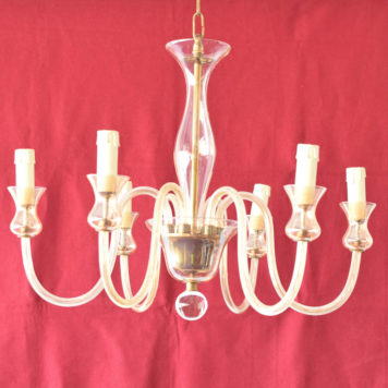 Vintage glass chandelier from the Bohemian region of the Czech Republic
