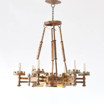 Vintage Spanish chandelier with gilded finish