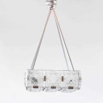 Vintage Glass Mid Century Pendant from the Czech Republic