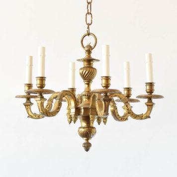 Heavy casted braonze vintage Mazarin style chandelier