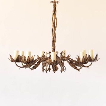 Large iron floral chandelier