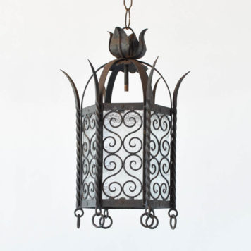 Iron and Glass Lantern from Spain
