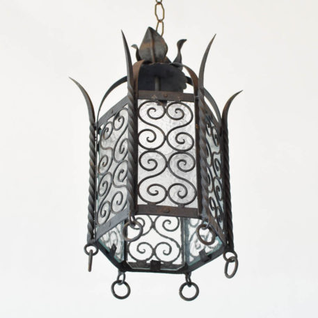 Spanish Hexagon Iron Lantern