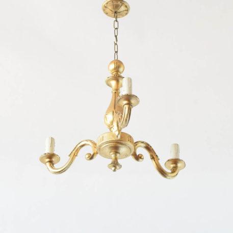Italian Gilded Wood Chandelier