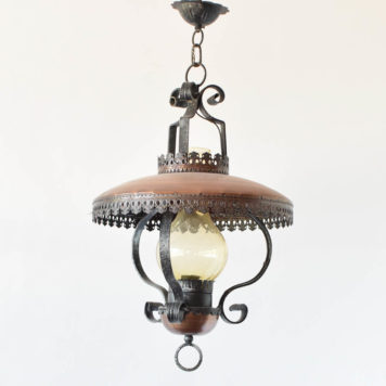 Vintage lantern from Belgiam made in copper and iron