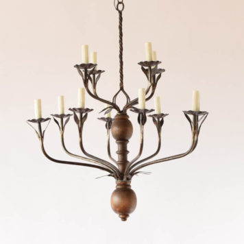 Rustic flemish large 12 light chandelier