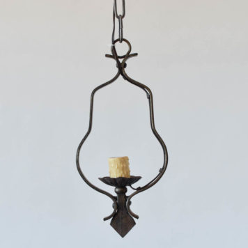 Vintage iron pendant from Belgium