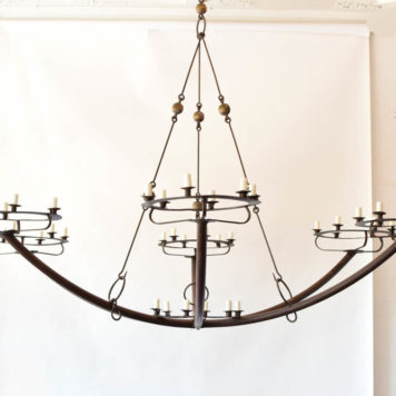 84 light extra large rustic chandelier