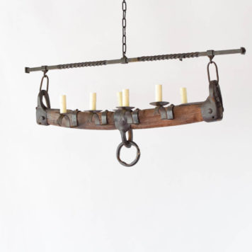Large wooden whippletree chandelier