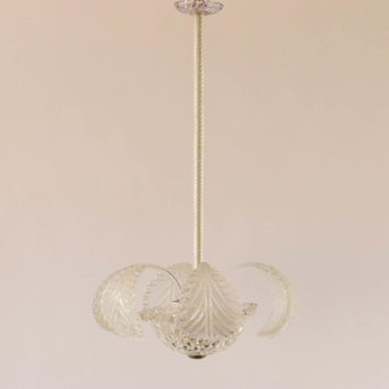 3 light glass murano chandelier