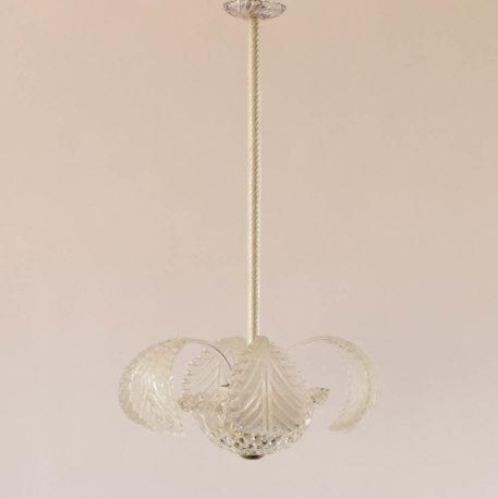 3 light glass murano chandelier