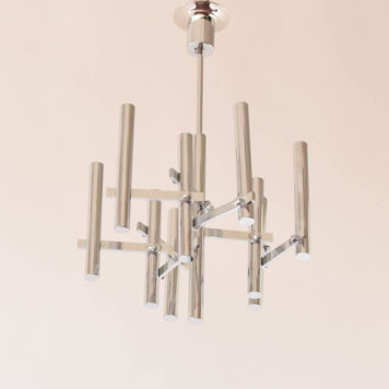 Sciolari mid century 9 light chandelier