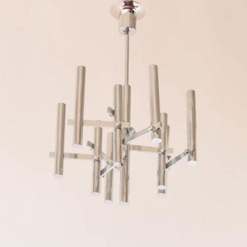 Sciolari mid century 9 light chandelier