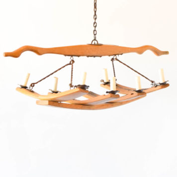 large wooden wine barrel fixture