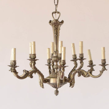 12 light antique nickel chandelier