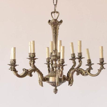 12 light antique nickel chandelier