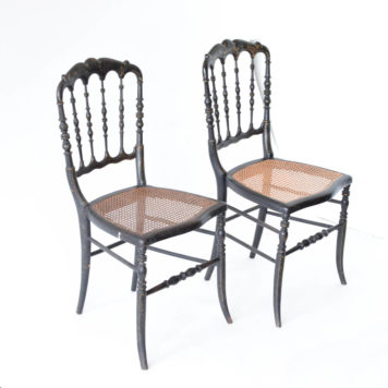 Pair of napoleon III chairs