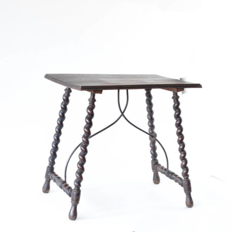 Spanish side table with iron supports