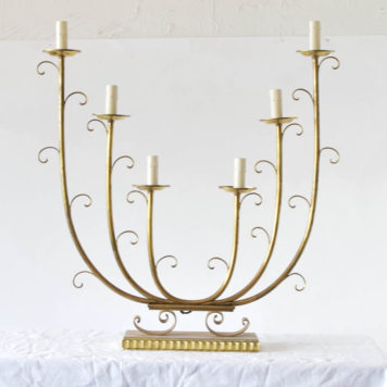 Large bronze 6 light pair of candelabras