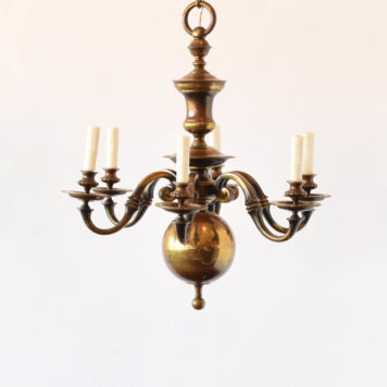 Heavy flemish bronze chandelier