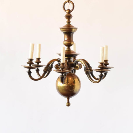 Heavy flemish bronze chandelier