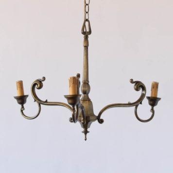 3 light bronze chandelier