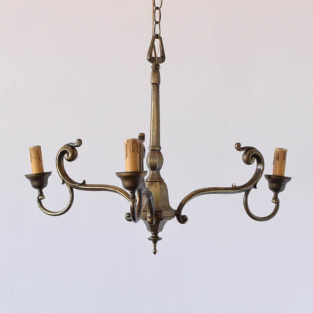 3 light bronze chandelier